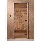 Дверь «Япония», размер коробки 200 × 80 см, правая, цвет матовая бронза