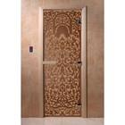 Дверь «Флоренция», размер коробки 200 × 80 см, левая, цвет матовая бронза