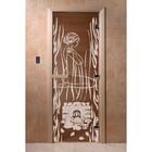 Дверь «Волшебный пар», размер коробки 200 × 80 см, левая, цвет бронза