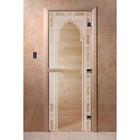 Дверь «Восточная арка», размер коробки 190 × 70 см, левая, цвет прозрачный