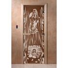 Дверь «Горячий пар», размер коробки 190 × 70 см, левая, цвет бронза