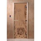 Дверь «Волшебный пар», размер коробки 200 × 80 см, левая, цвет матовая бронза