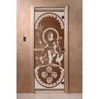 Дверь «Посейдон», размер коробки 200 × 80 см, правая, цвет бронза