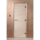 Дверь «Мираж», размер коробки 200 × 80 см, левая, цвет сатин