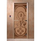 Дверь «Посейдон», размер коробки 200 × 80 см, левая, цвет матовая бронза