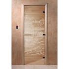 Дверь «Китай», размер коробки 190 × 70 см, правая, цвет прозрачный