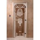 Дверь «Египет», размер коробки 190 × 70 см, левая, цвет бронза