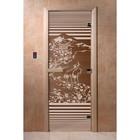 Дверь «Япония», размер коробки 200 × 80 см, левая, цвет бронза