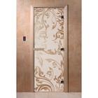 Дверь «Венеция», размер коробки 200 × 80 см, левая, цвет сатин