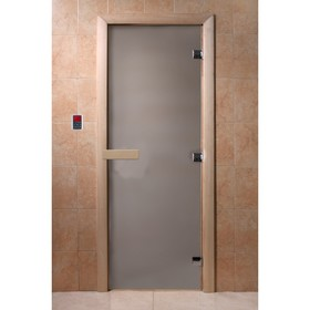 Дверь для бани стеклянная «Сатин», размер коробки 190 × 80 см, 8 мм
