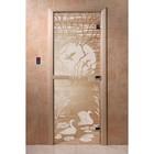 Дверь «Лебединое озеро», размер коробки 200 × 80 см, левая, цвет прозрачный