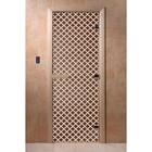 Дверь «Мираж», размер коробки 200 × 80 см, правая, цвет бронза