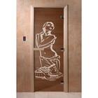 Дверь «Искушение», размер коробки 200 × 80 см, правая, цвет бронза