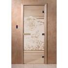 Дверь «Япония», размер коробки 200 × 80 см, правая, цвет сатин
