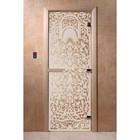 Дверь «Флоренция», размер коробки 200 × 80 см, левая, цвет прозрачный