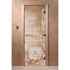 Дверь «Волшебный пар», размер коробки 200 × 80 см, левая, цвет прозрачный