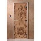 Дверь «Горячий пар», размер коробки 200 × 80 см, левая, цвет матовая бронза