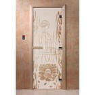 Дверь «Волшебный пар», размер коробки 190 × 70 см, левая, цвет сатин