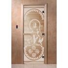 Дверь «Посейдон», размер коробки 190 × 70 см, правая, цвет прозрачный