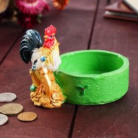"""Монетница """"Строгий петушок"""", 7.5х12 см"""