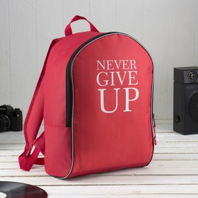 Backpack young Calligrata Style 27*14*38, Never Give Up, red