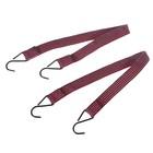 Резинки крепления груза TORSO, 2.5 х 60 см, металлические крючки, набор 2 шт