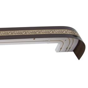 Карниз трёхрядный «Грация», ширина 250 см, золото, цвет венге
