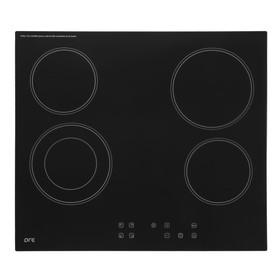 Варочная панель ORE СS60, электрическая, 4 конфорки, 60 см, черная
