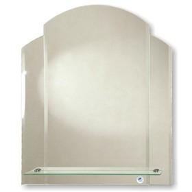 Зеркало «Пион», настенное, с полкой, 58×69 см