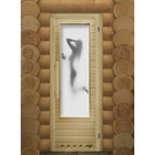 Дверь элит с рисунком «Искушение» с вентиляцией, коробка 185 × 73 см, левая