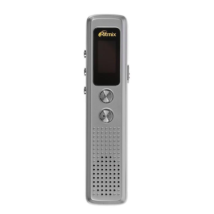 Диктофон RITMIX RR-120 Silver, 4 Гб, MP3, микрофон, дисплей - фото 537386689