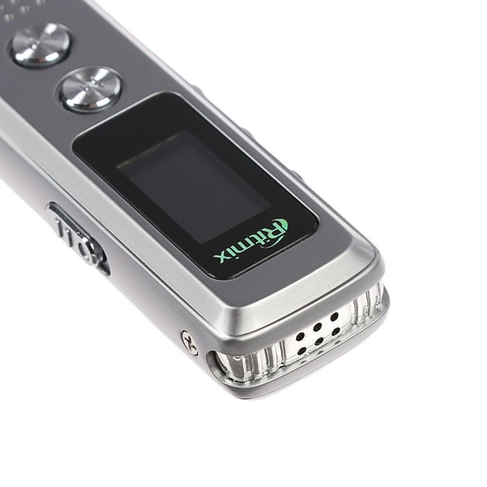 Диктофон RITMIX RR-120 Silver, 4 Гб, MP3, микрофон, дисплей - фото 537386692