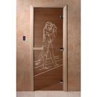 Дверь «Дженифер», размер коробки 190 × 70 см, левая, цвет бронза