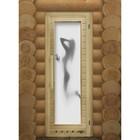 Дверь элит люкс с рисунком «Искушение» с вентиляцией, коробка 185 × 73 см, левая