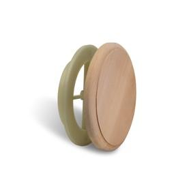 Вентиляционный клапан Alder wood, D=10см, основание термопластик Ош