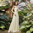 """Платье женское MINAKU """"Felice"""", длинное, размер 46, цвет бежевый - фото 933154"""