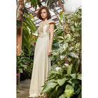 """Платье женское MINAKU """"Felice"""", длинное, размер 46, цвет бежевый - фото 933155"""