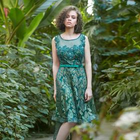 Платье женское MINAKU, цвет зелёный, размер 42