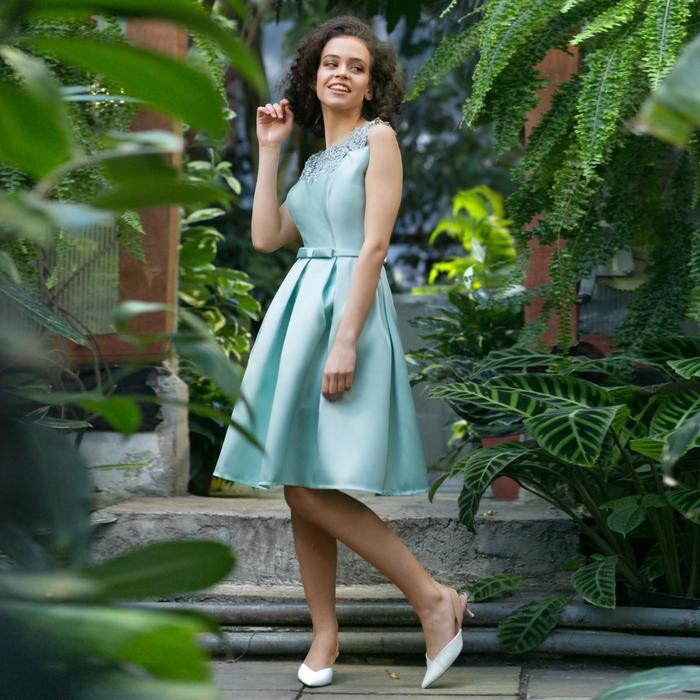 Платье женское MINAKU, цвет мятный, размер 44