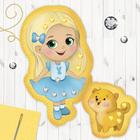 """Куколка, игрушка из фетра с термонаклейкой """"Маленькая красавица"""""""