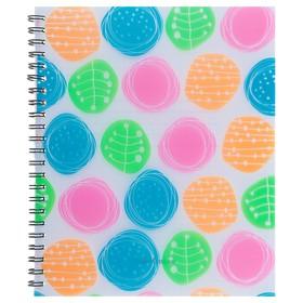 Тетрадь А5+, 60 листов в клетку, на гребне, Erich Krause Buttons, пластиковая обложка