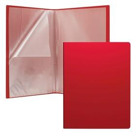 """Папка А4, 10 прозрачных вкладышей, ErichKrause """"Standard"""", красная"""