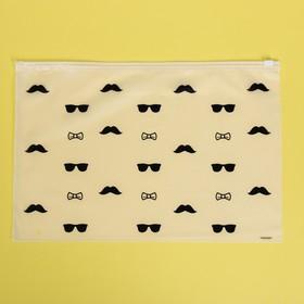Пакет-слайдер матовый с принтом Men's things, 36 × 24 см