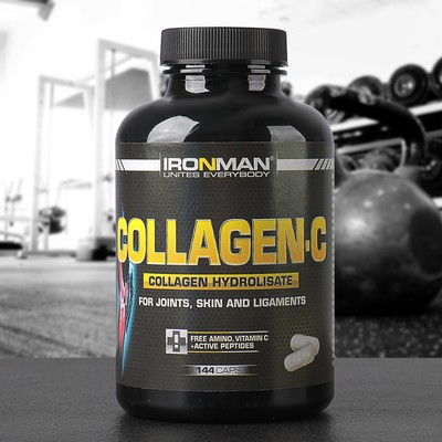 """Collagen WITH """"IRONMAN"""" 144 caps."""