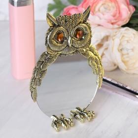 Mirror Owl yant., 10.2 x 10.2 cm