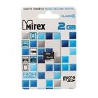 Карта памяти Mirex microSD, 2 Гб, SDHC, класс 4