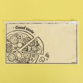 Пакет-слайдер матовый с принтом Good taste, 25 × 14.5 см