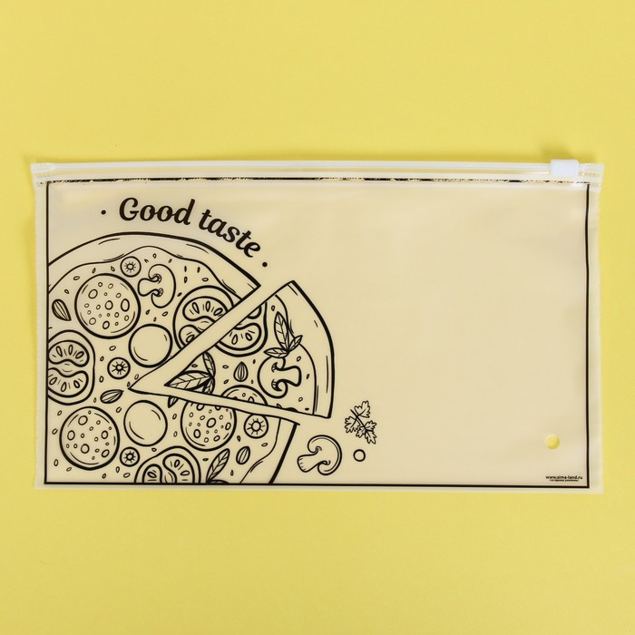 Пакет-слайдер матовый с принтом Good taste, 25 × 14.5 см - фото 7086