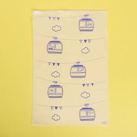 Пакет-слайдер матовый с принтом «Изучаем мир», 24 × 36 см