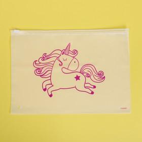 Пакет для хранения вещей «Розовый единорог», 29 × 20 см
